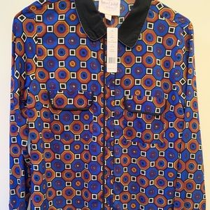 Romeo & Juliet Couture Print Collared Shirt